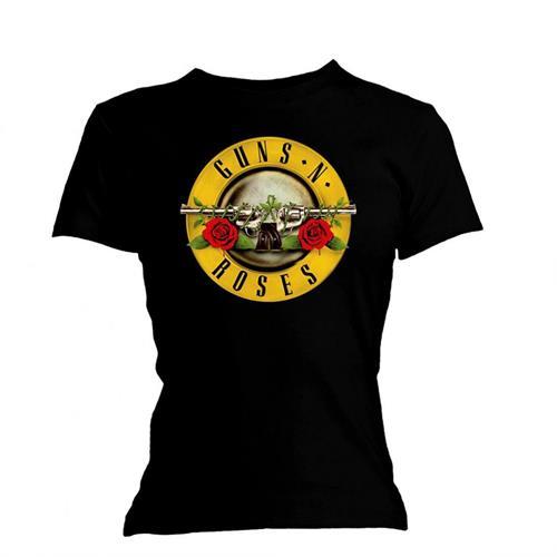 Guns N' Roses - Tričko Classic Bullet Logo - Žena, Čierna, M