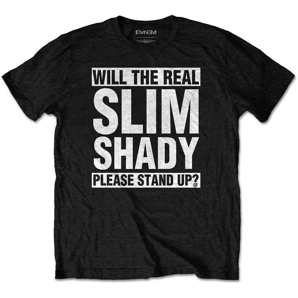 Eminem - Tričko The Real Slim Shady - Muž, Unisex, Čierna, S