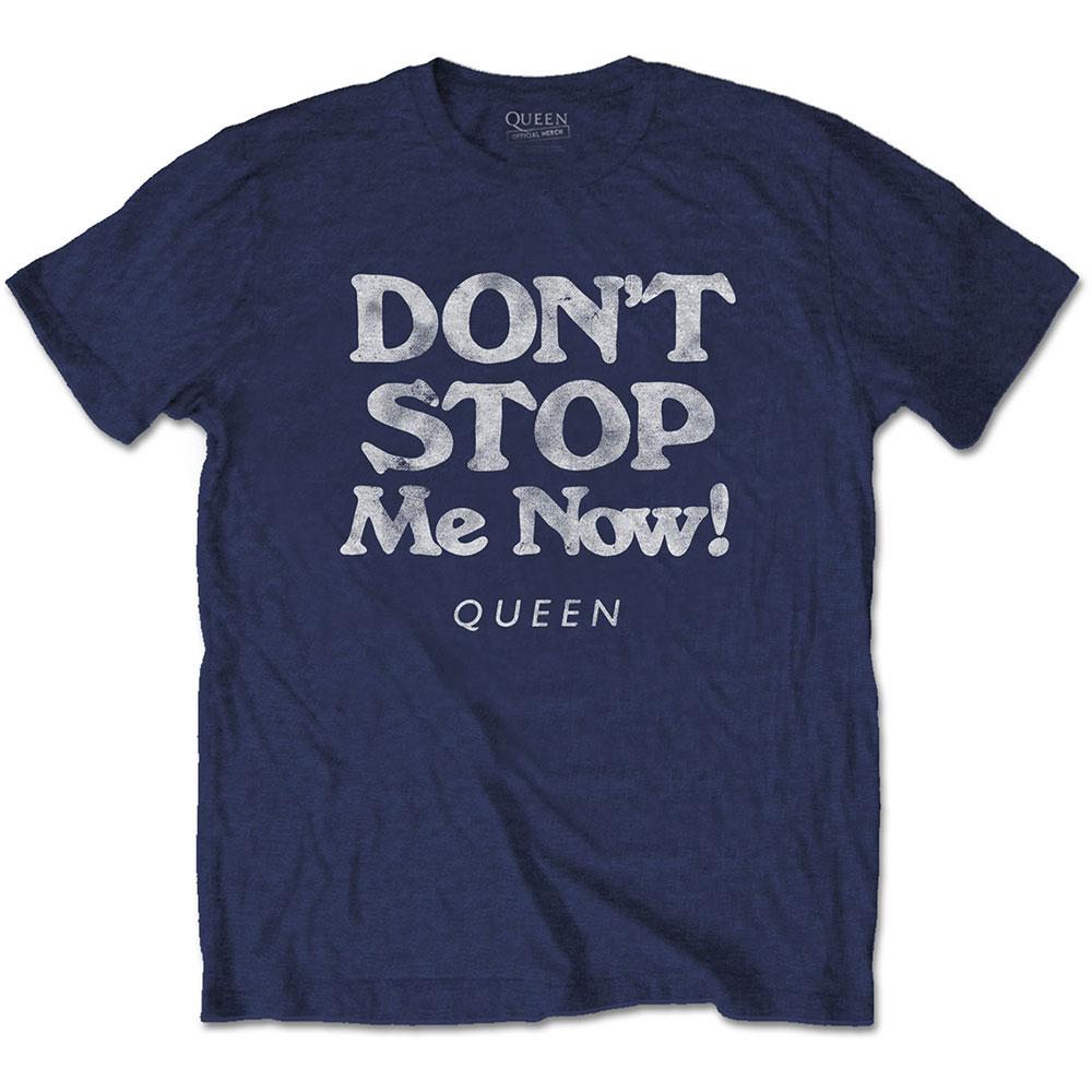 Queen - Tričko Don't Stop Me Now - Muž, Unisex, Modrá, XL
