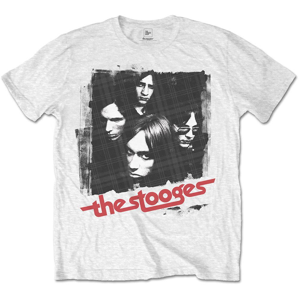 Iggy & The Stooges - Tričko Four Faces - Muž, Unisex, Biela, S