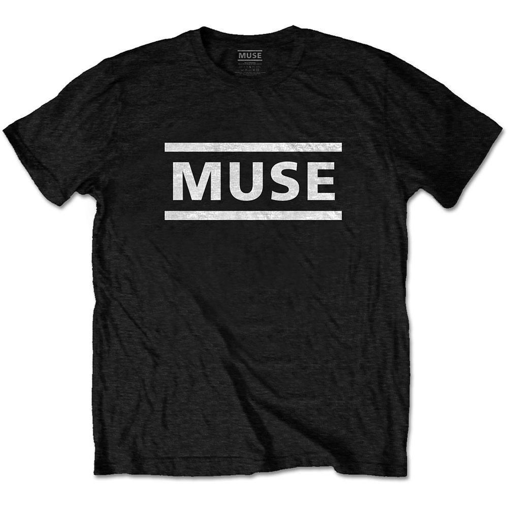 Muse - Tričko White Logo - Muž, Unisex, Čierna, L