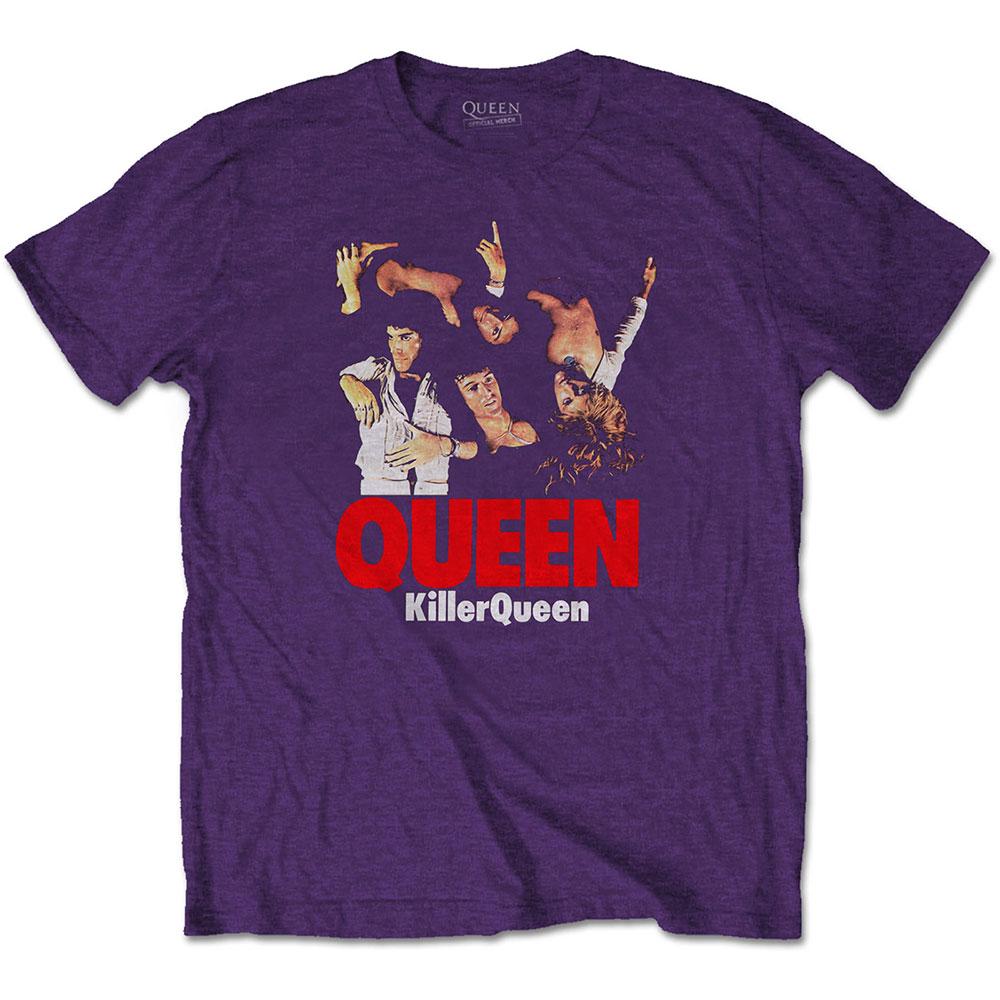 Queen - Tričko Killer - Muž, Unisex, Fialová, XL