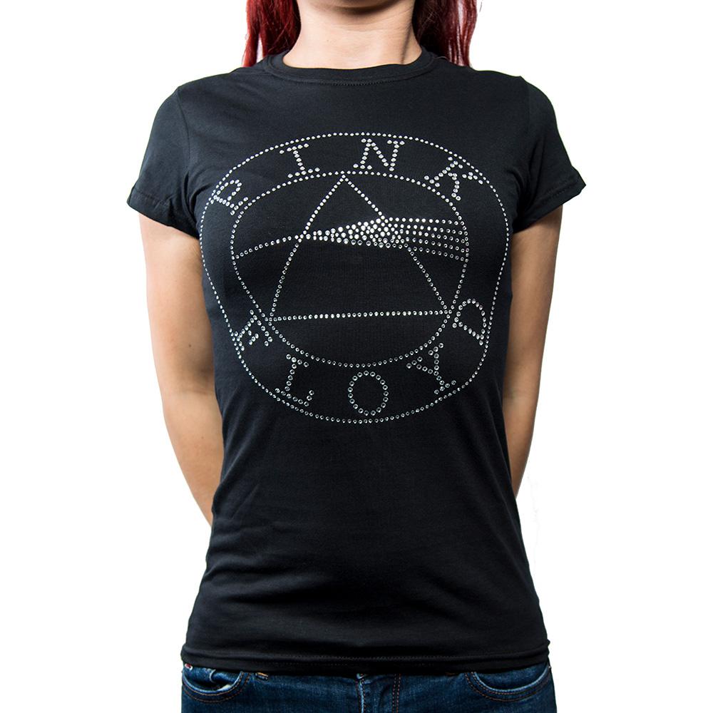 Pink Floyd - Tričko Circle Logo - Žena, Čierna, M