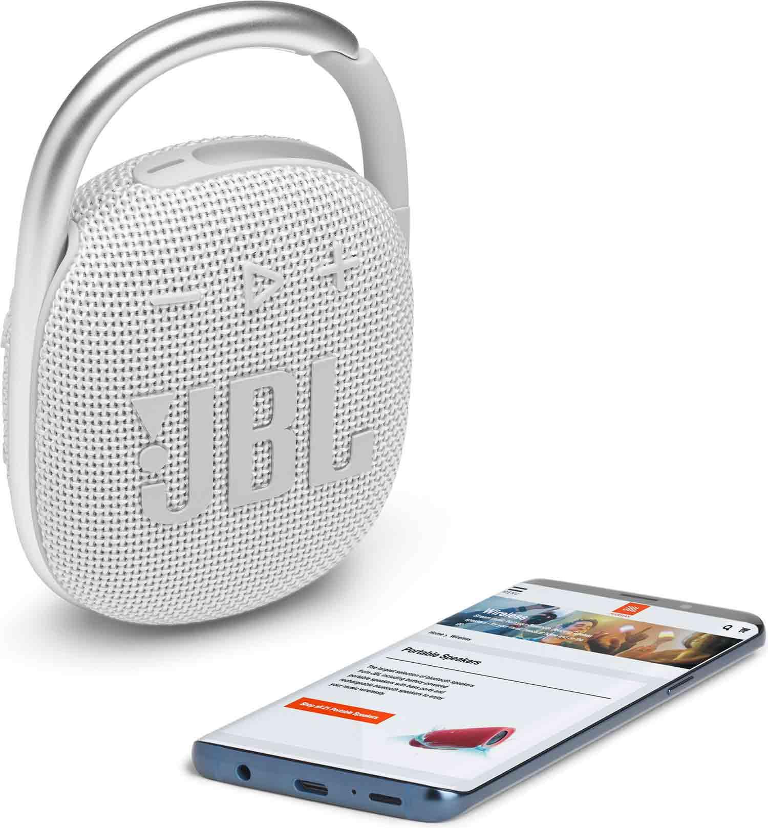 Reproduktor JBL Clip 4 White