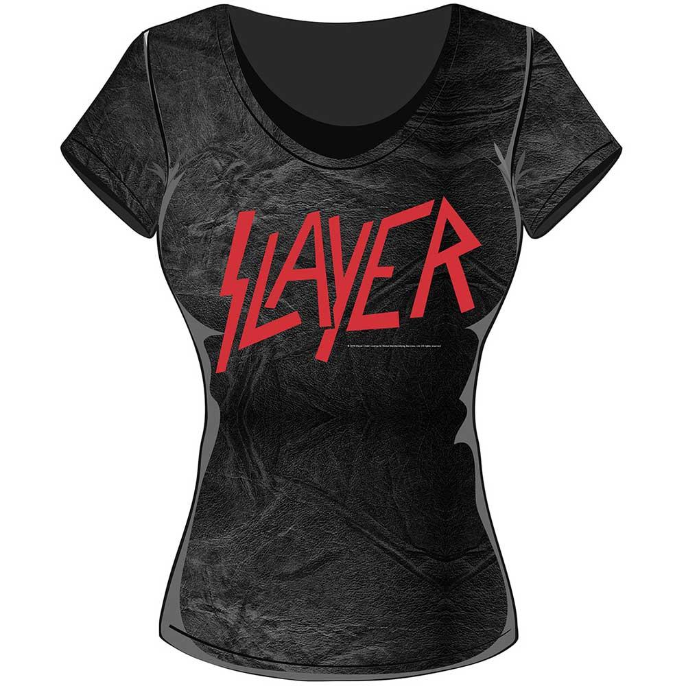 Slayer - Tričko Classic Logo - Žena, Šedá/Čierna, S