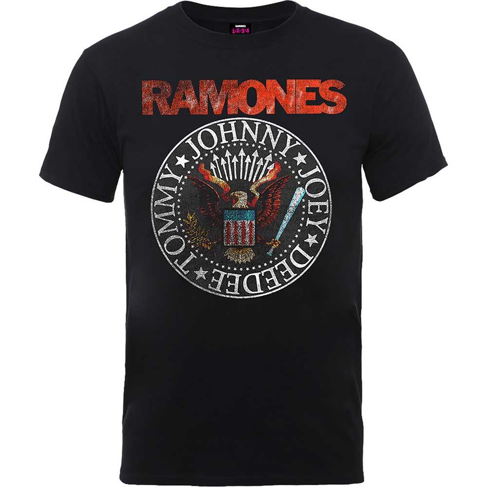 Ramones - Tričko Vintage Eagle Seal - Muž, Unisex, Čierna, XXL