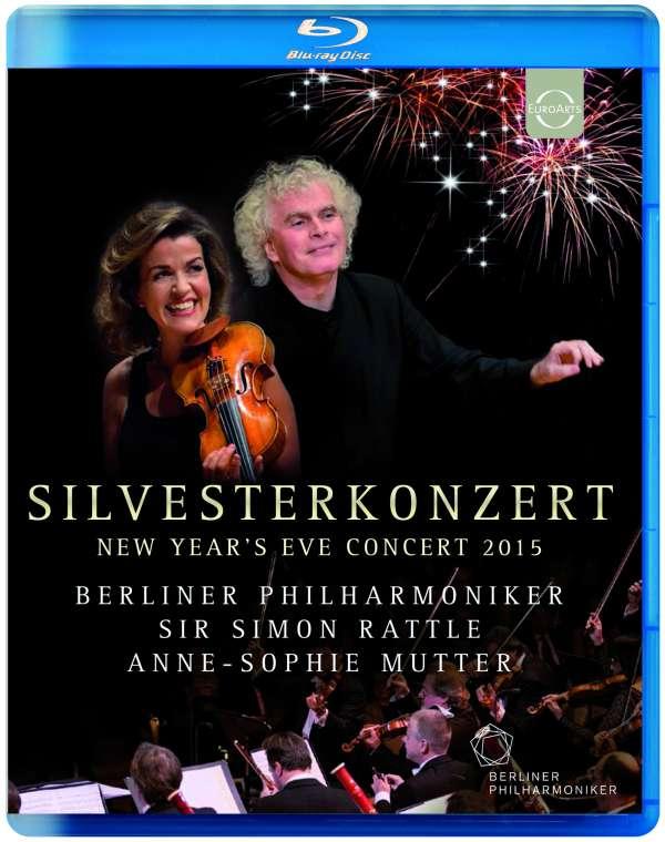 Blu-ray MUTTER, ANNE-SOPHIE / BERLINER PHILHARMONIKER / SIMON RATTLE - EUROARTS - NEW YEAR'S EVE CONCERT 2015