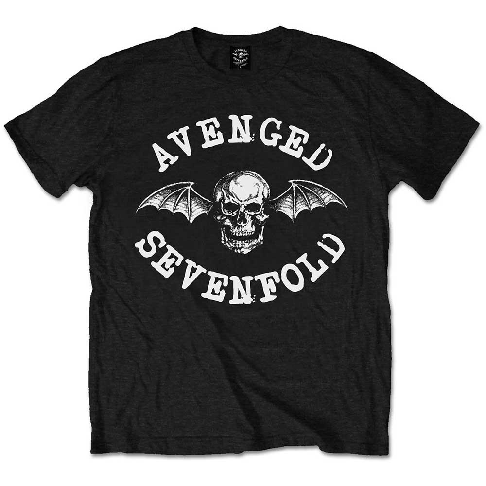 Avenged Sevenfold A7X - Tričko Classic Death Bat - Muž, Unisex, Čierna, S