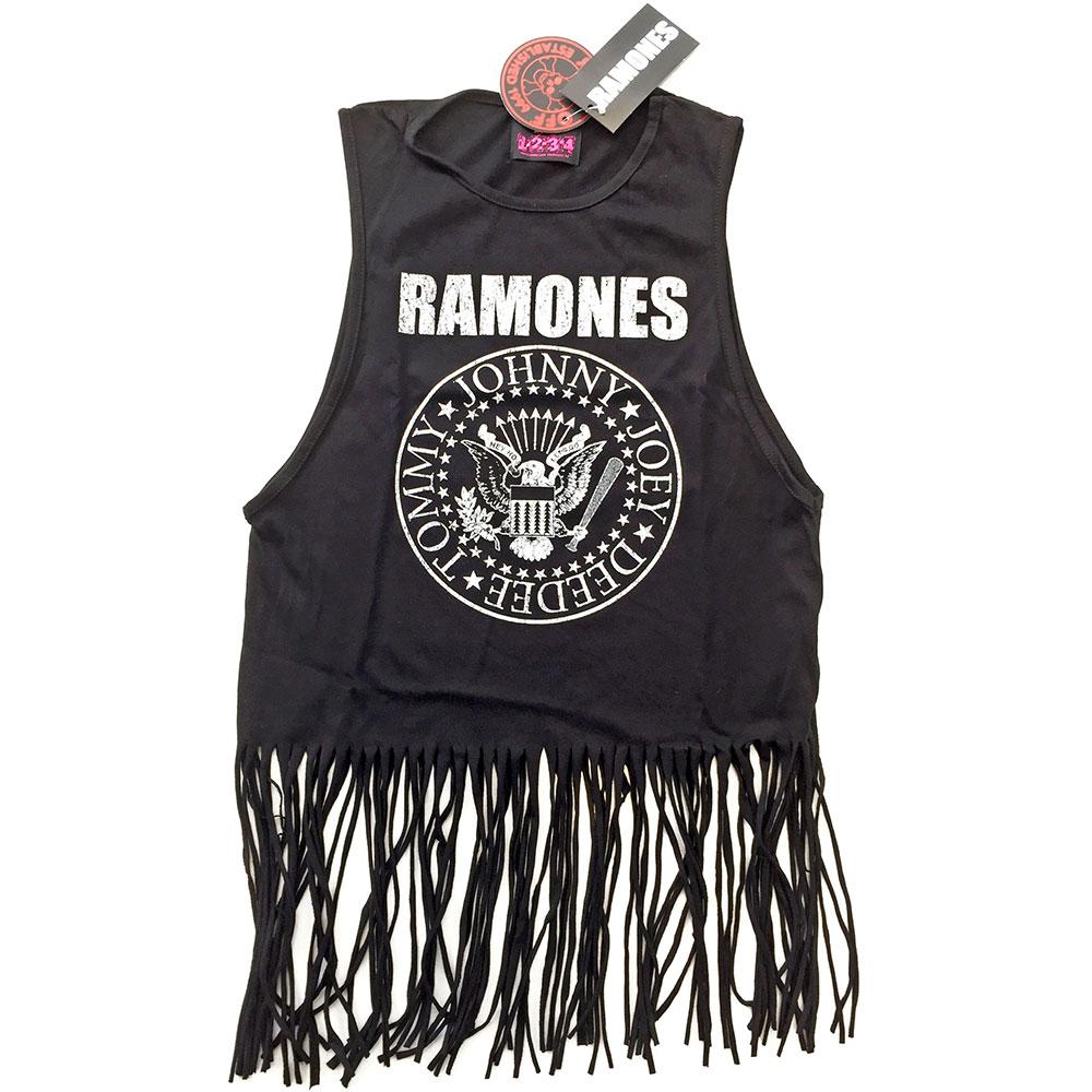 Ramones - Tielko Vintage Presidential Seal - Žena, Čierna, XXL