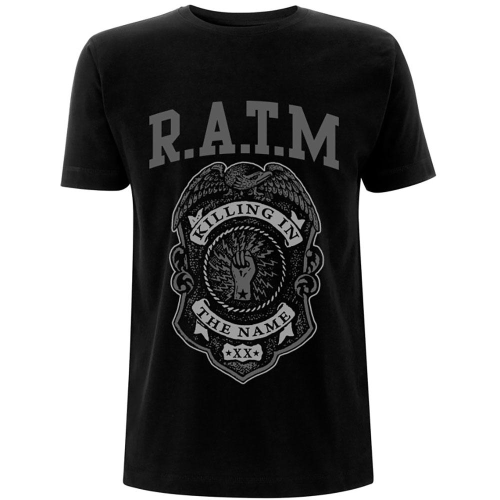 Rage Against the Machine - Tričko Grey Police Badge - Muž, Unisex, Čierna, XL
