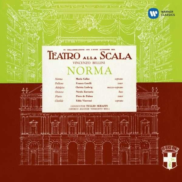CD CALLAS, MARIA/CHRISTA LUDWIG/FRANCO CORELLI/CHORUS & ORCHESTRA OF LA SCALA MILAN/TULLIO SERAFIN - BELLINI: NORMA (1960)