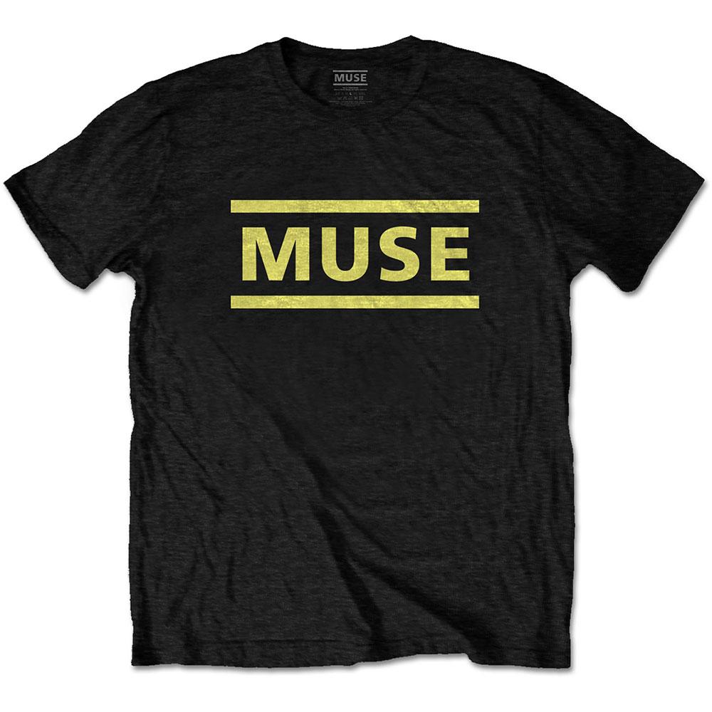 Muse - Tričko Yellow Logo - Muž, Unisex, Čierna, L