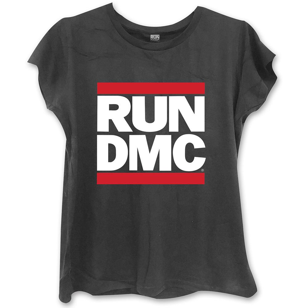 Run-DMC - Tričko Logo - Žena, Čierna, M