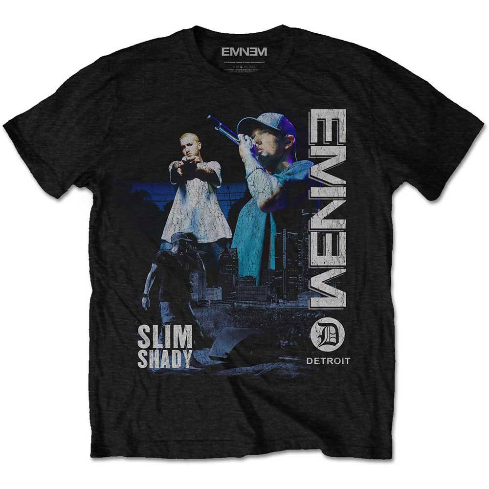 Eminem - Tričko Detroit - Muž, Unisex, Čierna, S