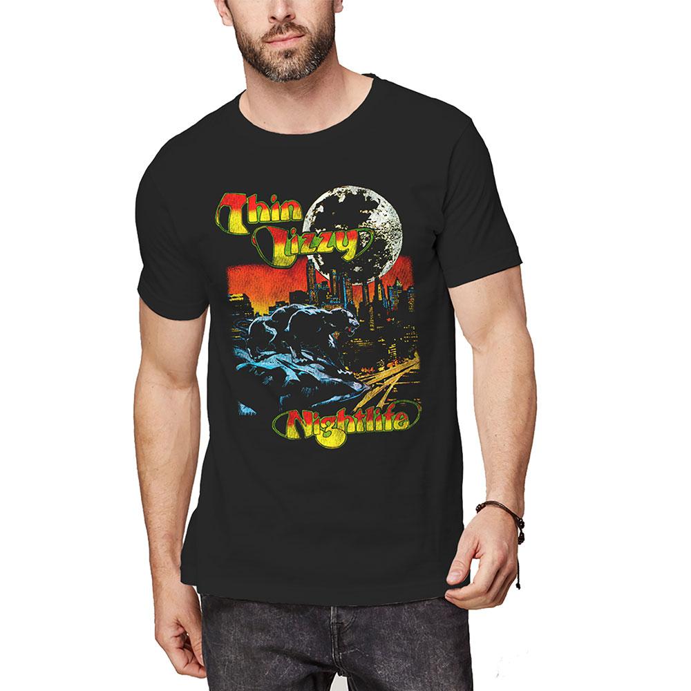 THIN LIZZY - Tričko Nightlife Colour - Muž, Unisex, Čierna, S