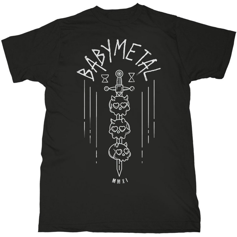 BABYMETAL - Tričko Skull Sword - Muž, Unisex, Čierna, L