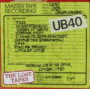 CD UB 40 - THE LOST TAPES LIVE AT THE