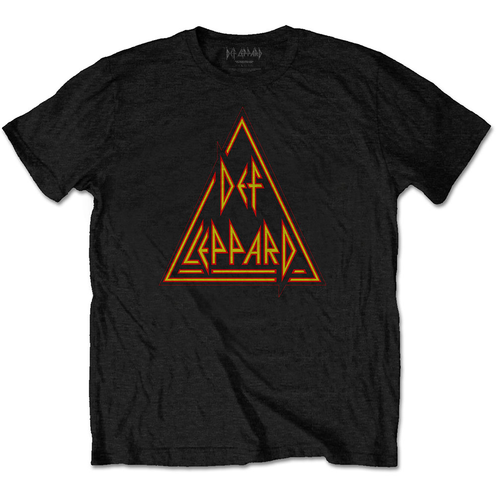 Def Leppard - Tričko Classic Triangle - Muž, Unisex, Čierna, S