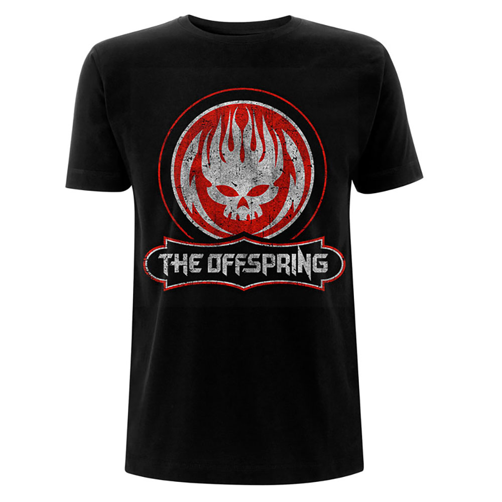 The Offspring - Tričko Distressed Skull - Muž, Unisex, Čierna, XL