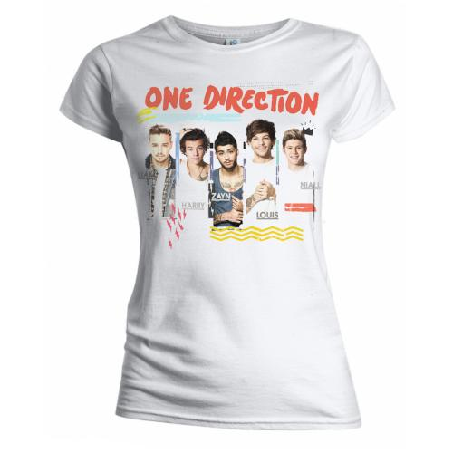 One Direction - Tričko Individual Shots - Žena, Biela, XL
