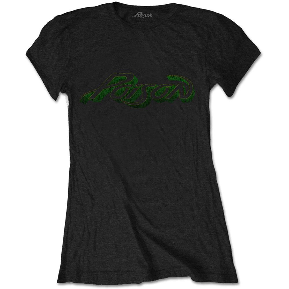 Poison - Tričko Vintage Logo - Žena, Čierna, M