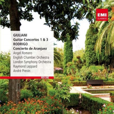 CD ROMERO/PREVIN/LONDON SYMPHONY ORCHESTRA - RED LINE - GUITAR CONCERTOS NO. 1 & 3 / CONCIERTO DE ARANJUEZ
