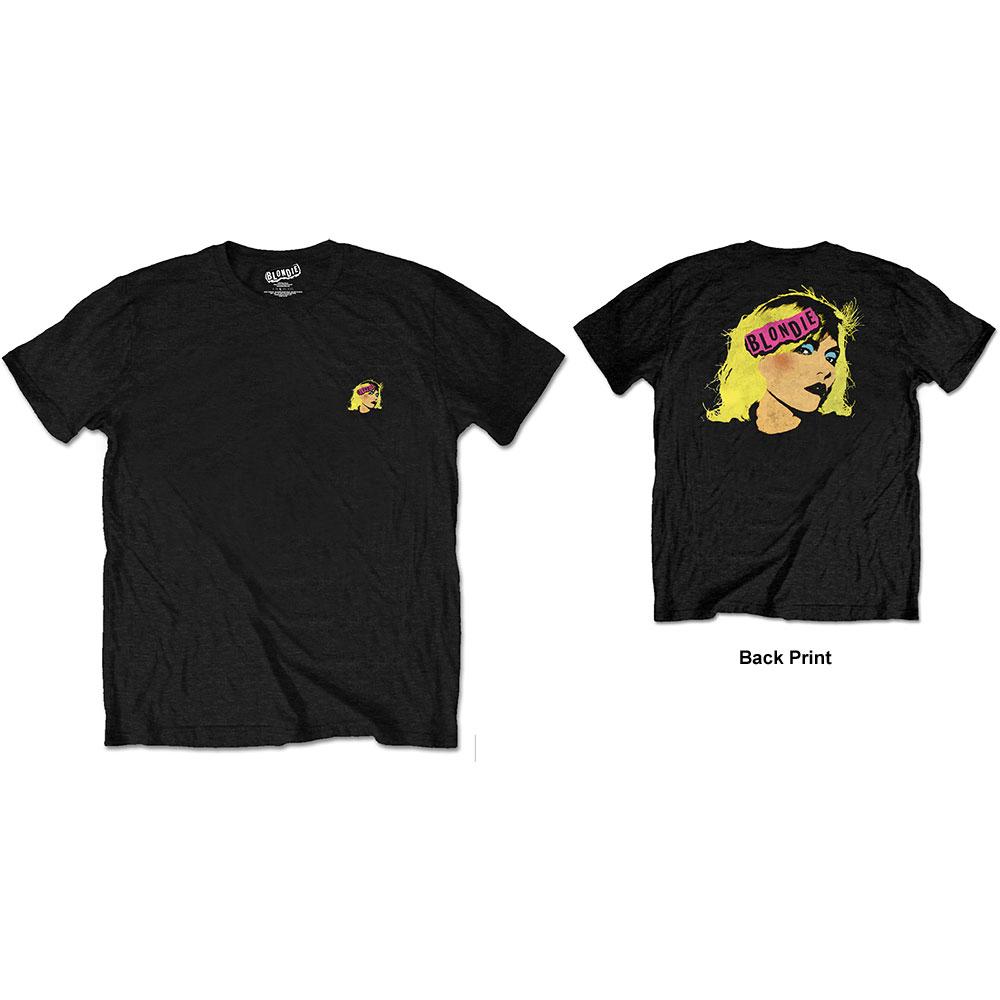 Blondie - Tričko Punk Logo - Muž, Unisex, Čierna, M