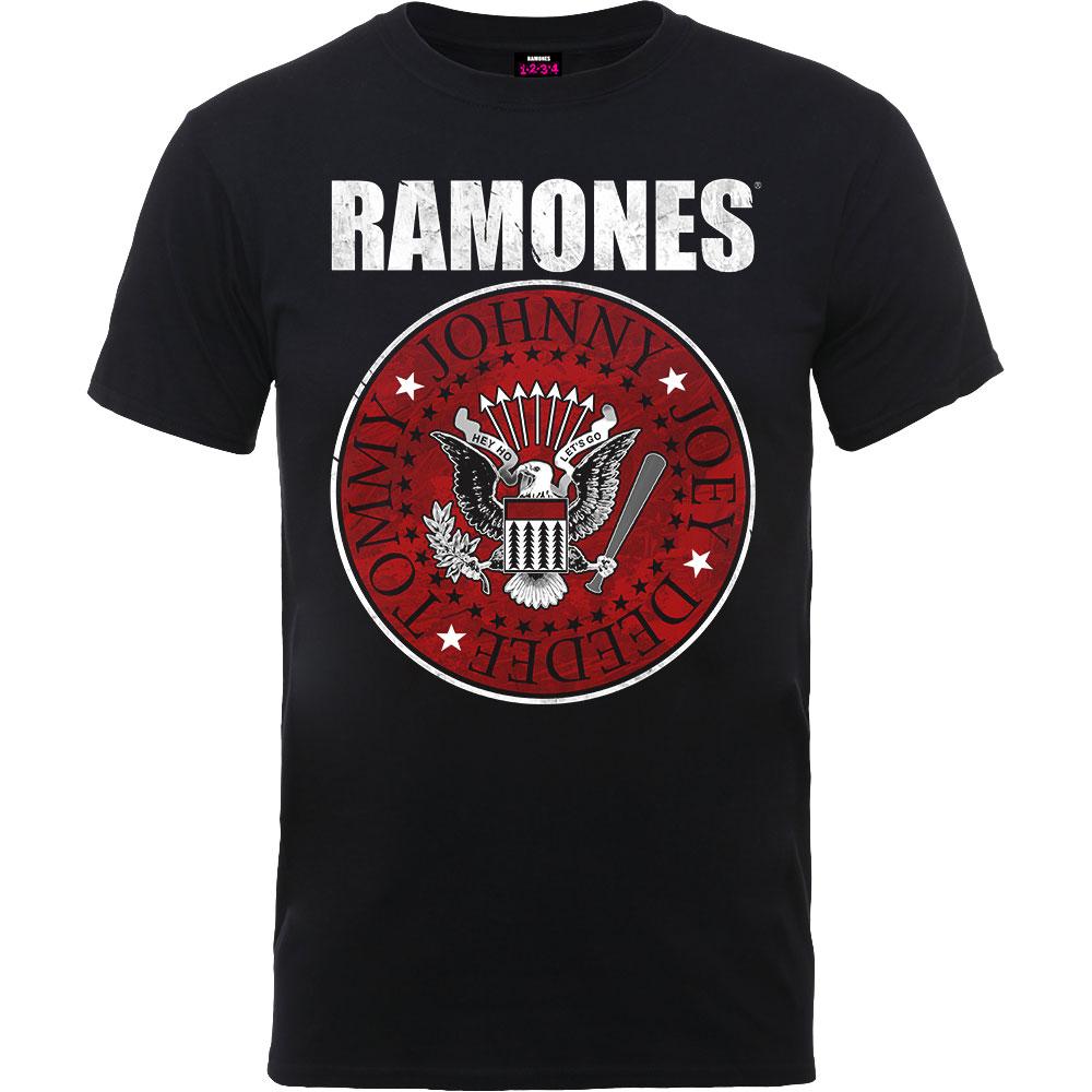 Ramones - Tričko Red Fill Seal - Muž, Unisex, Čierna, XXL