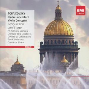 CD CZIFFRA/KOGAN - RED LINE - PIANO-CONCERTOS, VIOLINCONCERTO