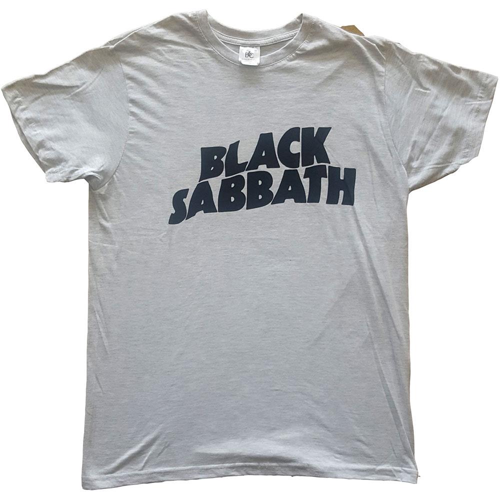 Black Sabbath - Tričko Black Wavy Logo - Muž, Unisex, Šedá, S
