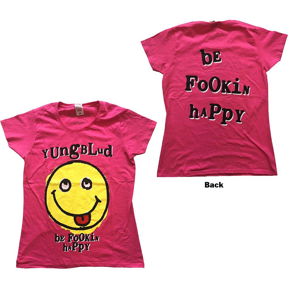 Yungblud - Tričko Raver Smile - Žena, Ružová, XL