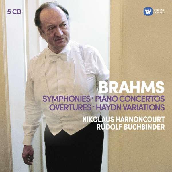 CD HARNONCOURT, NIKOLAUS / BERLINER PHILHARMONIKER / ROYAL CONCERTGEBOUW ORCHESTRA / RUDOLF BUCHBINDER - BRAHMS: SYMPHONIES, OVERTURES / HAYDN: VARIATIONS, PIANO CONCERTOS
