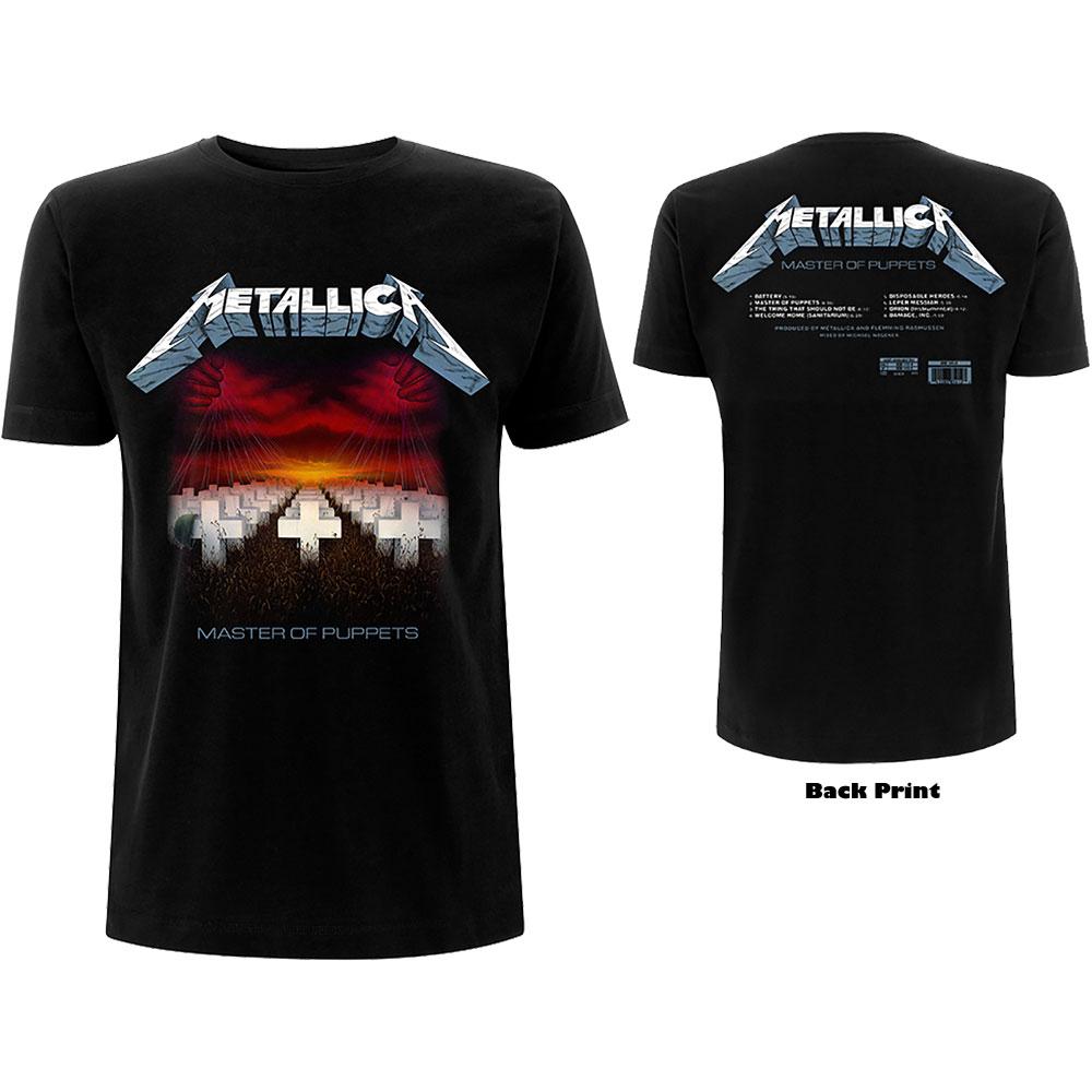 Metallica - Tričko Master of Puppets Tracks - Muž, Unisex, Čierna, M