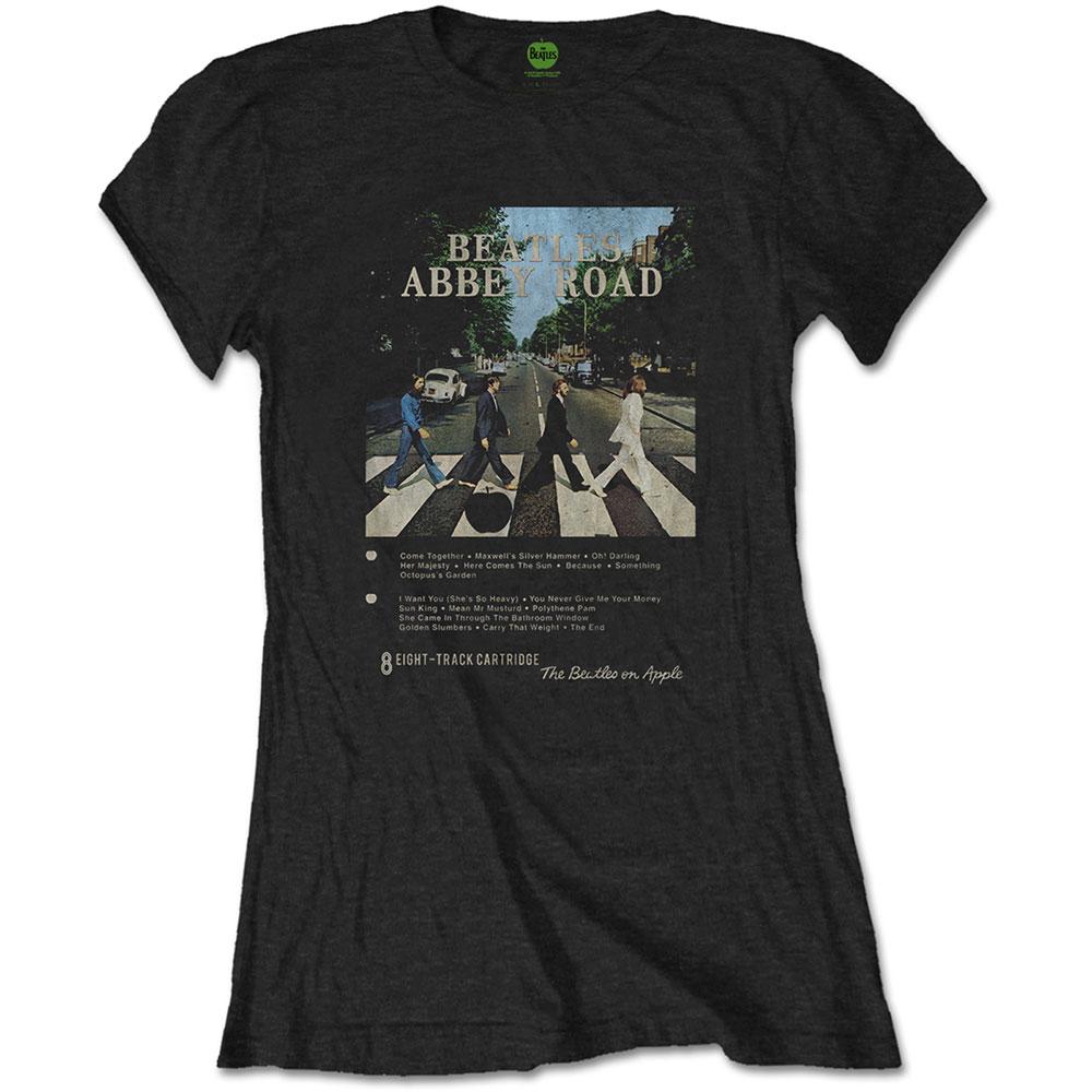 The Beatles - Tričko Abbey Road 8 Track - Žena, Čierna, S