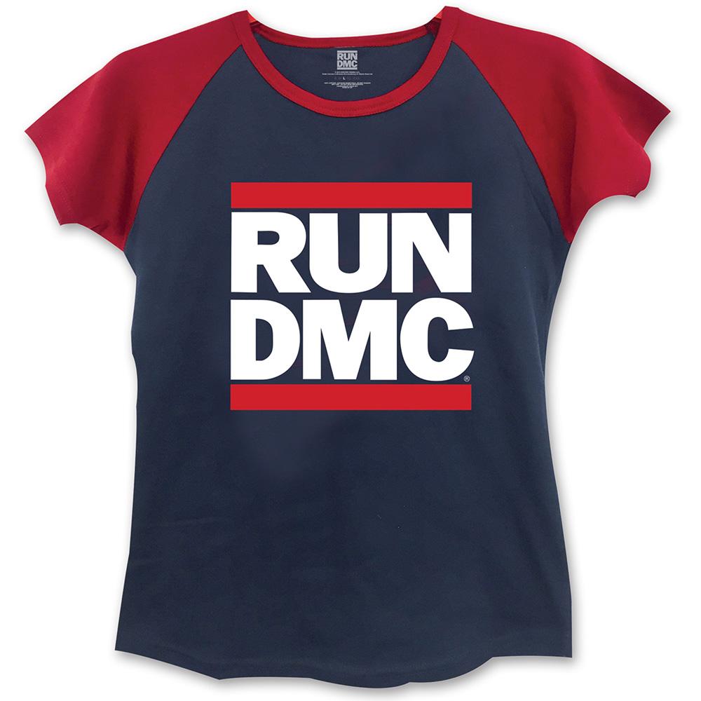 Run-DMC - Tričko Logo - Žena, Modrá, L