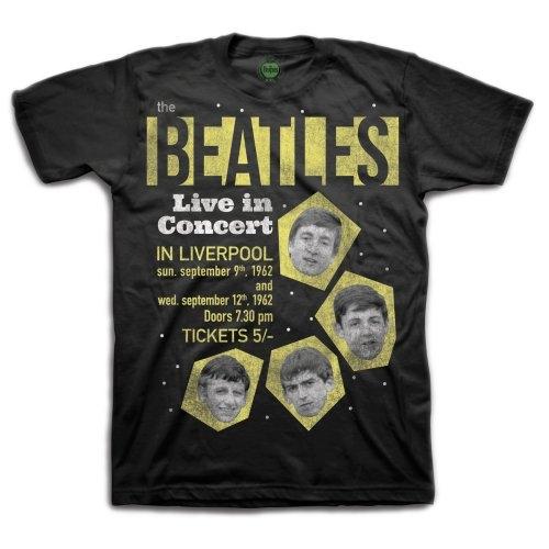 The Beatles - Tričko 1962 Live in Concert - Muž, Unisex, Čierna, S