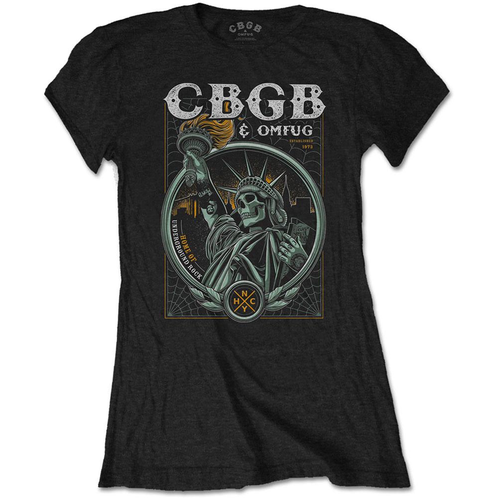 CBGB - Tričko Liberty - Žena, Čierna, S