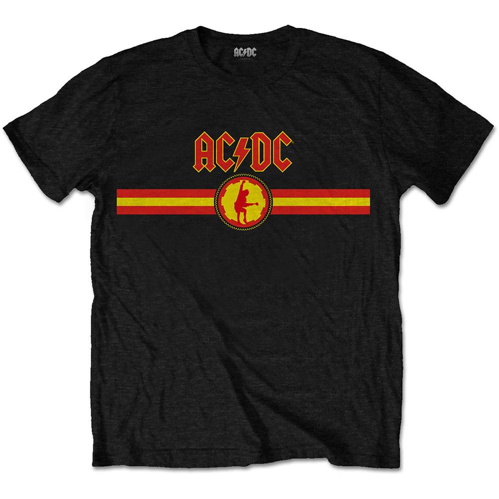 AC/DC - Tričko Logo & Stripe - Muž, Unisex, Čierna, XL