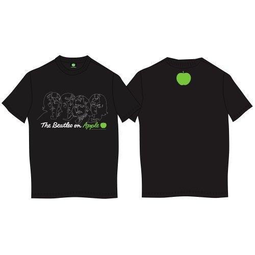 The Beatles - Tričko On Apple - Muž, Unisex, Čierna, S