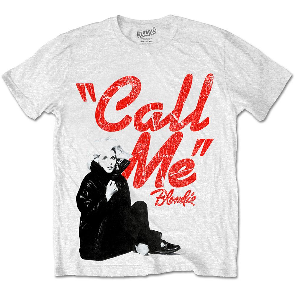 Blondie - Tričko Call Me - Muž, Unisex, Biela, XL