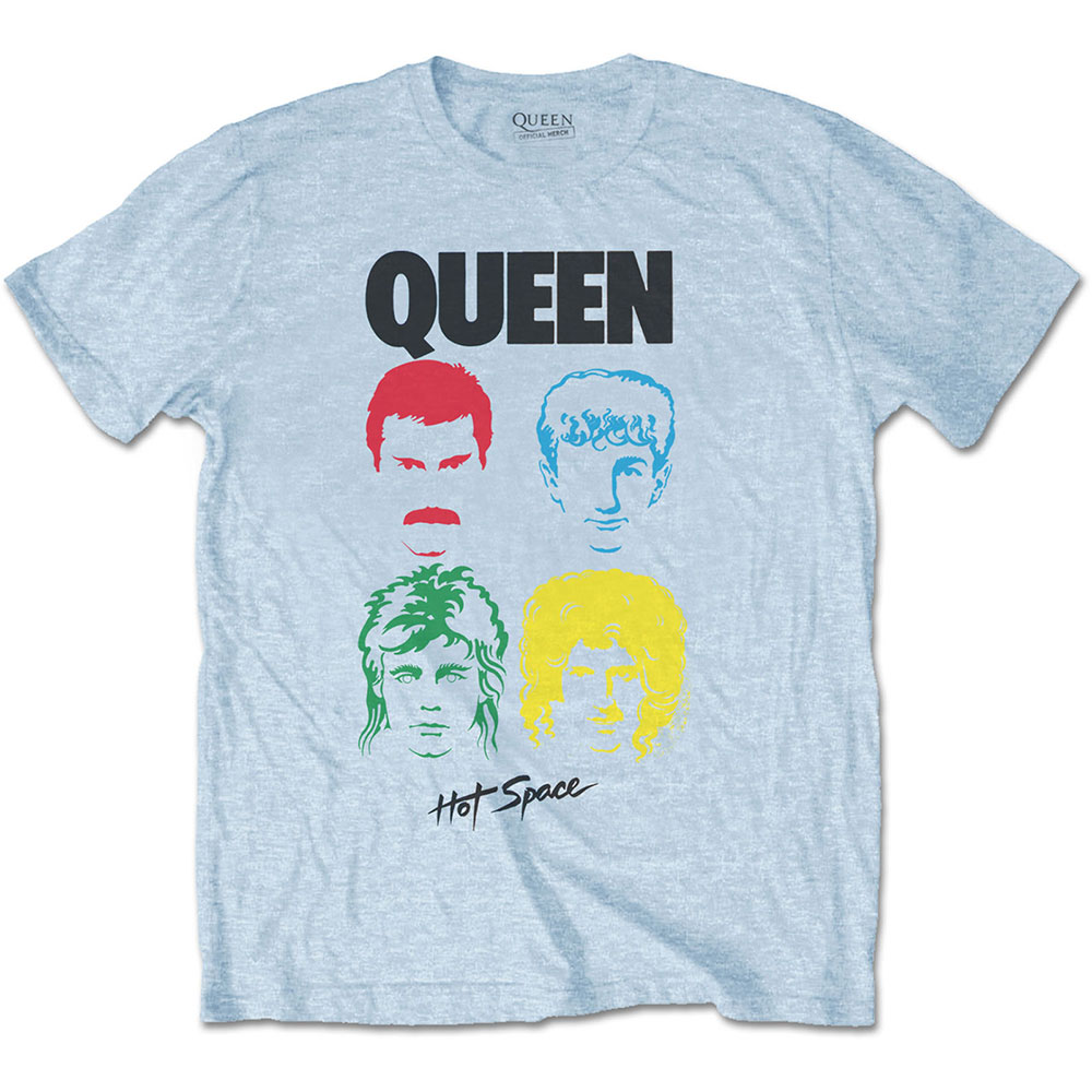 Queen - Tričko Hot Space Album - Muž, Unisex, Modrá, XL