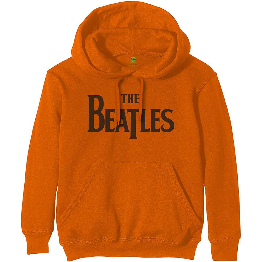 The Beatles - Mikina Drop T Logo - Muž, Unisex, Oranžová, XXL