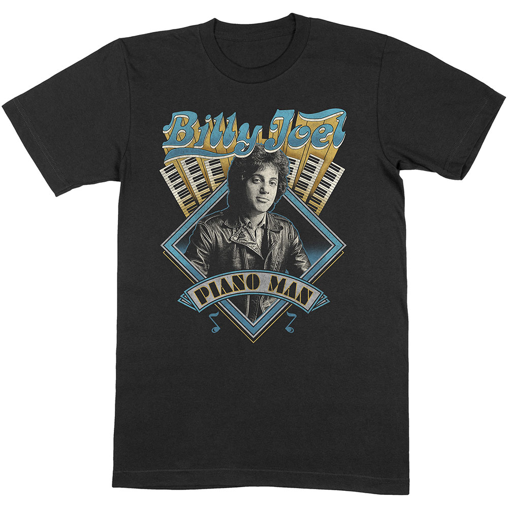 Billy Joel - Tričko Piano Man - Muž, Unisex, Čierna, M