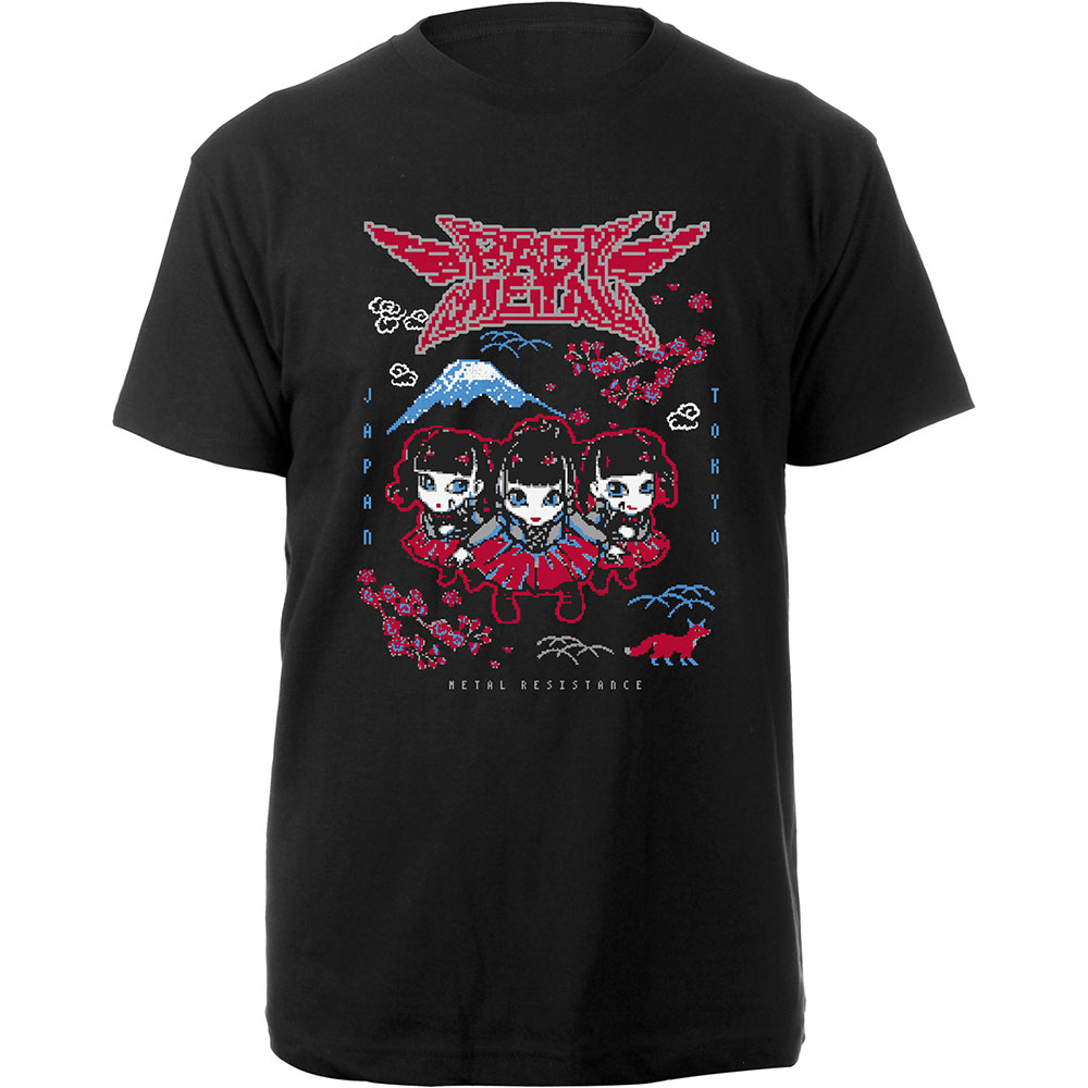 BABYMETAL - Tričko Pixel Tokyo - Muž, Unisex, Čierna, L