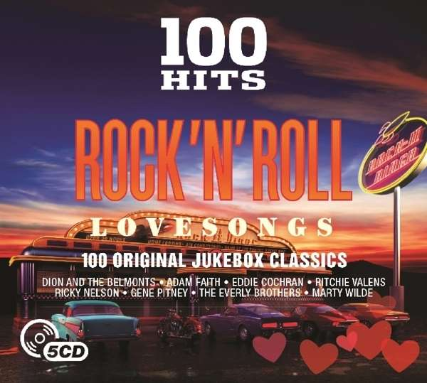 CD V/A - 100 HITS - ROCK 'N' ROLL LOVE SONGS