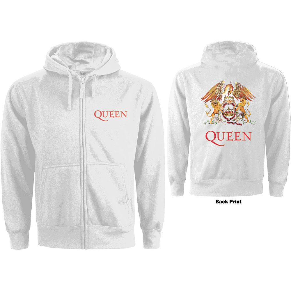 Queen - Zipper Classic Crest - Žena, Biela, XL