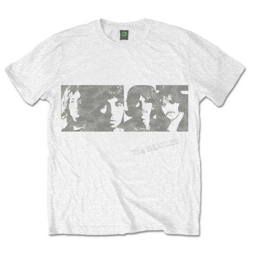 The Beatles - Tričko White Album Faces - Muž, Unisex, Biela, S