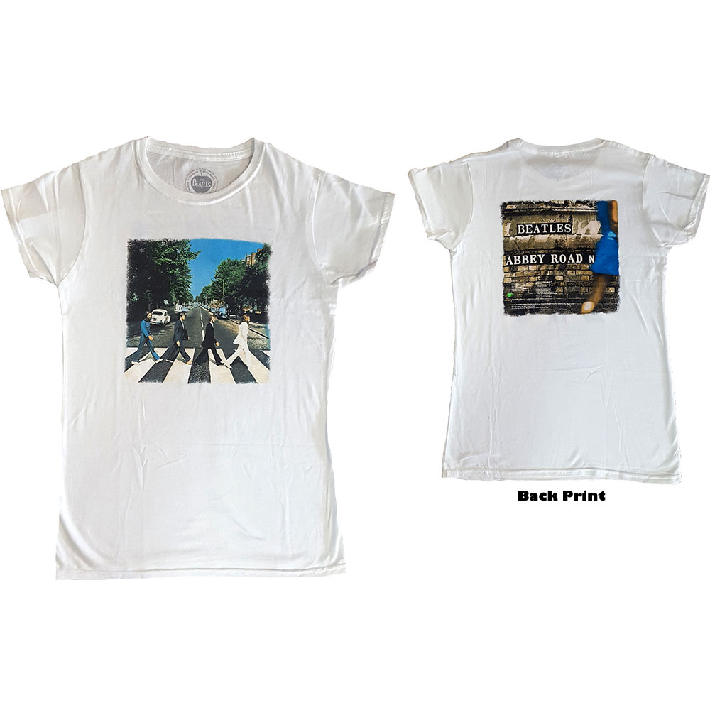 The Beatles - Tričko Abbey Road - Žena, Biela, XL