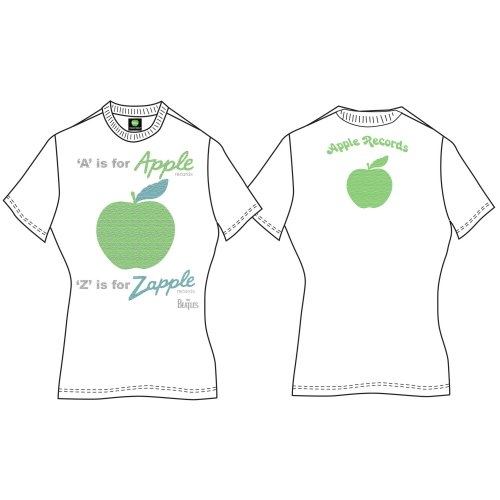 The Beatles - Tričko A is for Apple - Žena, Biela, XL
