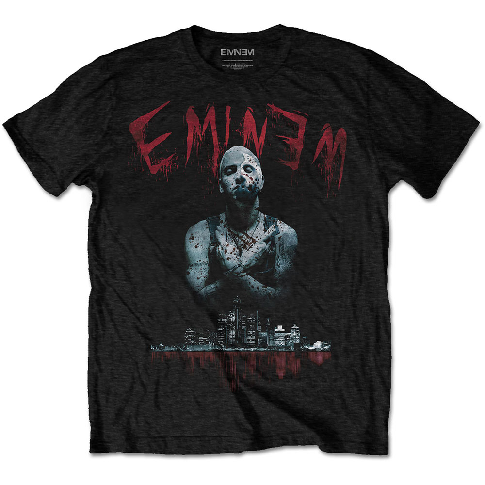 Eminem - Tričko Bloody Horror - Muž, Unisex, Čierna, S